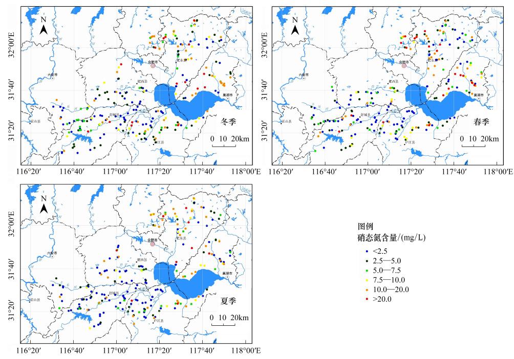 巢湖流域地下水硝态氮含量空间分布和季节变化格局