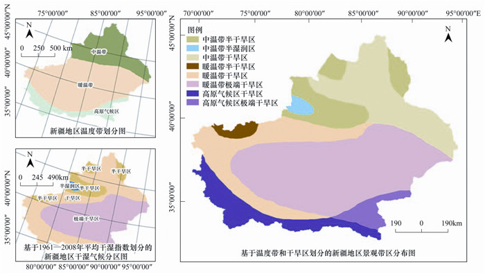 基于气候,地貌,生态系统的景观分类体系——以新疆为