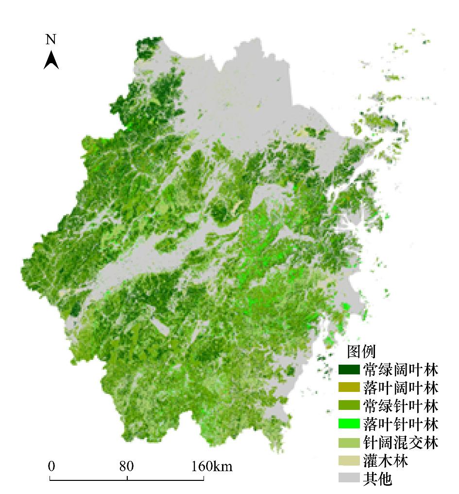 。 从图 8和以上分析数据得到结论2005到2010年浙江省森林变化较2000到2005年更剧烈。2000年到2005年林地的转入类别主要是裸土、耕地、河流、水库/坑塘、草丛,转出类别主要是裸土、居住地、水库/坑塘、湖泊、采矿场;2005年到2010年林地的转入类别主要是耕地、裸土、居住地,转出类别主要是耕地、居住地、裸土、工业用地。从总体上看,2005年到2010年变化斑块的面积和密度都比2000到2005年大。2000年到2005年,浙江省积极响应国家退耕还林政策,整个省域森林覆盖率都在提高。而20